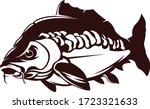 Carp Fishing Logo. Great Carp fishing vector to use as your fishing activity.