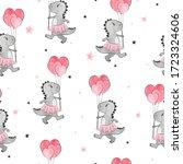 seamless pattern with cartoon... | Shutterstock .eps vector #1723324606