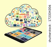 cloud concept with applications ...