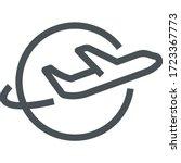 airline icon   monoline concept ... | Shutterstock .eps vector #1723367773