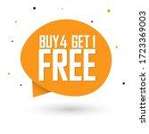 buy 4 get 1 free  sale banner...   Shutterstock .eps vector #1723369003