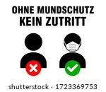 ohne mundschutz kein zutritt  ...   Shutterstock .eps vector #1723369753