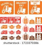 online delivery service concept ... | Shutterstock .eps vector #1723370386