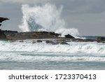 Huge Waves Smashing Against The ...
