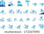 winter sports | Shutterstock .eps vector #172337090