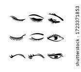eyelashes icon or logo isolated ...   Shutterstock .eps vector #1723371853