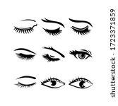 eyelashes icon or logo isolated ...   Shutterstock .eps vector #1723371859