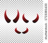 devil horns. halloween evil... | Shutterstock .eps vector #1723381633