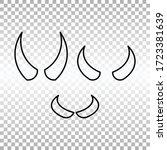 devil horns. halloween evil... | Shutterstock .eps vector #1723381639