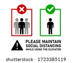 maintain social distancing and... | Shutterstock .eps vector #1723385119