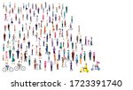 large group of people on white... | Shutterstock .eps vector #1723391740