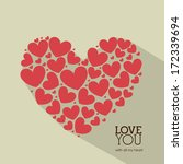 love design over  beige ... | Shutterstock .eps vector #172339694