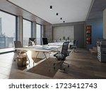 Contemporary Office Interior....