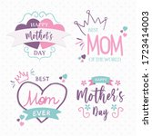 happy mother's day love quote... | Shutterstock .eps vector #1723414003