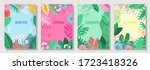 vector set nature background ... | Shutterstock .eps vector #1723418326