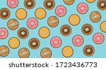 pattern donut diagonal vector...