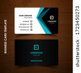 modern business card design... | Shutterstock .eps vector #1723450273