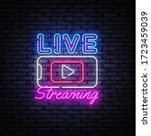 live streaming only neon text... | Shutterstock .eps vector #1723459039