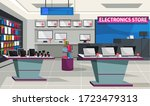 electronic store interior... | Shutterstock .eps vector #1723479313