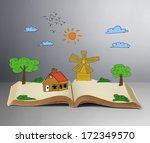 book of fantasy stories ... | Shutterstock . vector #172349570