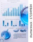 test tubes with blue liquids... | Shutterstock . vector #172349834