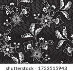 pattern design seamless...   Shutterstock . vector #1723515943