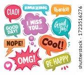 speech bubbles hand drawn...   Shutterstock .eps vector #1723516276