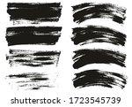 flat paint brush thin long  ... | Shutterstock .eps vector #1723545739