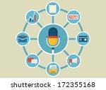 vector flat illustration of... | Shutterstock .eps vector #172355168