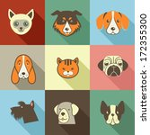 Pets Vector Icons   Cats And...