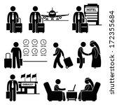business trip businessman...   Shutterstock .eps vector #172355684