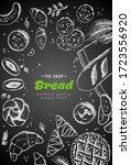 bakery vintage background...   Shutterstock . vector #1723556920