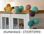 cotton light balls in pastel...   Shutterstock . vector #1723572493