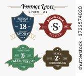 bundle set of retro vintage... | Shutterstock .eps vector #1723574020