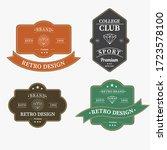set of retro vintage badge logo ... | Shutterstock .eps vector #1723578100