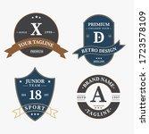 set of retro vintage badge logo ... | Shutterstock .eps vector #1723578109