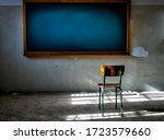 Abandoned Classroom With Chair...