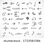 vector set of hand drawn arrows | Shutterstock .eps vector #1723581586