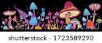 groups of decorative mushrooms... | Shutterstock .eps vector #1723589290