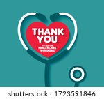 thank you to all the healthcare ... | Shutterstock .eps vector #1723591846