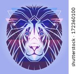 creative illustration of a lion ... | Shutterstock .eps vector #172360100