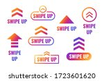 swipe up  arrow up buttons... | Shutterstock .eps vector #1723601620