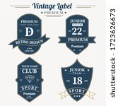 set of retro vintage badge logo ... | Shutterstock .eps vector #1723626673