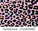 Exotic Colorful Leopard Design...