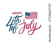 fourth of july  usa... | Shutterstock .eps vector #1723661719