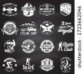 set of bmx  skateboard  mtb... | Shutterstock .eps vector #1723662046