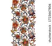 flower borders with fantastic...   Shutterstock . vector #1723667806