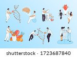 vector flat medical concept... | Shutterstock .eps vector #1723687840