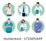 set of male and female... | Shutterstock .eps vector #1723692649