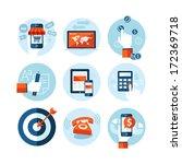 set of modern flat design icons ... | Shutterstock .eps vector #172369718